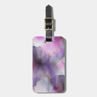 seamless cubism purple abstract art luggage tag