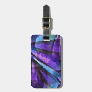 seamless cubism purple, blue abstract art bag tag