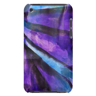 seamless cubism purple, blue abstract art barely there iPod cover