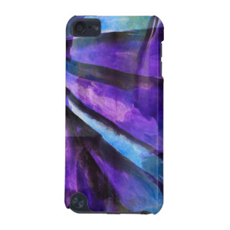seamless cubism purple, blue abstract art iPod touch 5G case