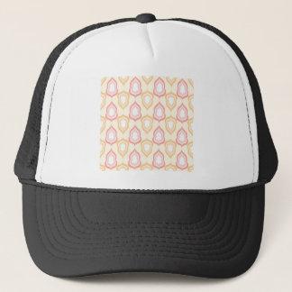 Seamless damask pattern trucker hat