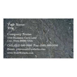 Seamless Dark Rock Texture Business Card Templates