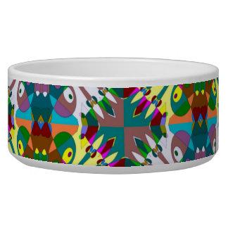 Seamless Decorative Pattern Dog Food Bowl