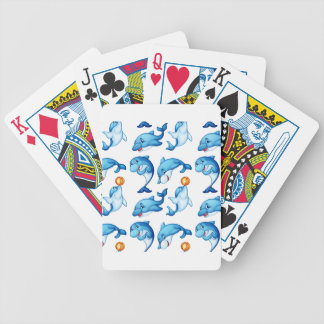Seamless design of dolphins poker deck
