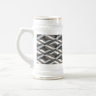 Seamless Diamond Shaped Chrome Plated Metal Beer Stein