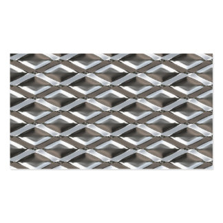 Seamless Diamond Shaped Chrome Plated Metal Double-Sided Standard Business Cards (Pack Of 100)