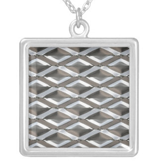 Seamless Diamond Shaped Chrome Plated Metal Pendants