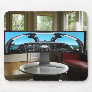Seamless Display Flight Simulator Mouse Pad