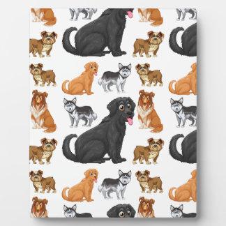 Seamless dog photo plaque