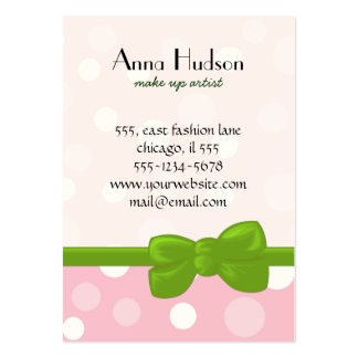 Seamless Dots, Spots (Dotted Pattern) - Pink White Large Business Cards (Pack Of 100)