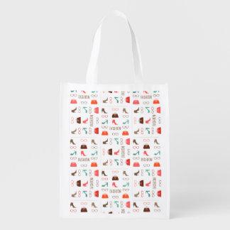 Seamless Fashion Pattern Reusable Bag Grocery Bag