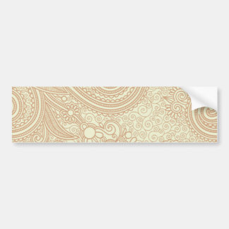 Seamless Floral Pattern Background SOFT TAN PINK S Car Bumper Sticker