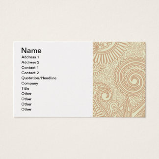 Seamless Floral Pattern Background SOFT TAN PINK S Business Card