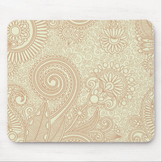 Seamless Floral Pattern Background SOFT TAN PINK S Mouse Pad