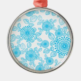 Seamless Floral Pattern Metal Ornament