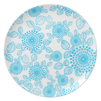 Seamless Floral Pattern Plate