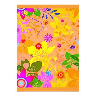 Seamless Floral Vector2 oranges peaches yellows fl Invitation