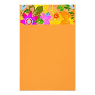 Seamless Floral Vector2 oranges peaches yellows fl Personalized Stationery