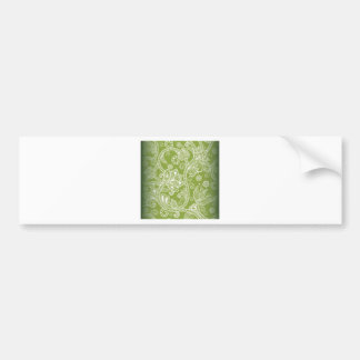 Seamless Floral Vector Image Bumper Sticker