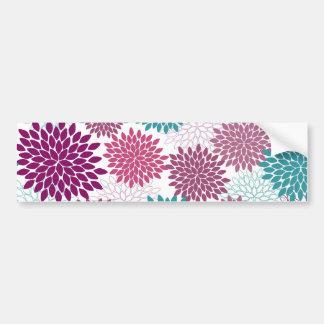 Seamless Flower Bumper Sticker