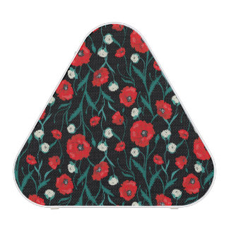 Seamless Flower  Poppies and Roses  Pattern Speaker
