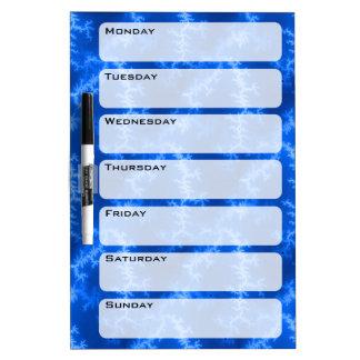 Seamless Fractal Blue Dry Erase Board