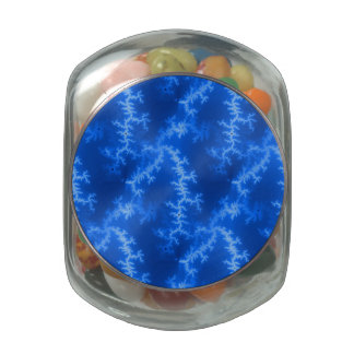 Seamless Fractal Blue Jelly Belly Candy Jars