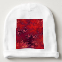 Seamless Fractal Red Baby Beanie