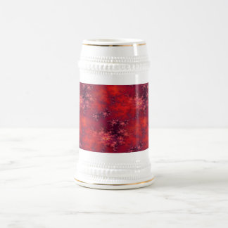 Seamless Fractal Red Beer Stein