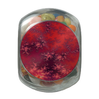 Seamless Fractal Red Glass Candy Jar