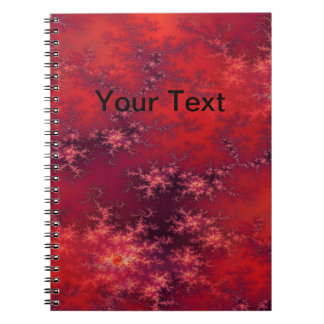 Seamless Fractal Red Notebook