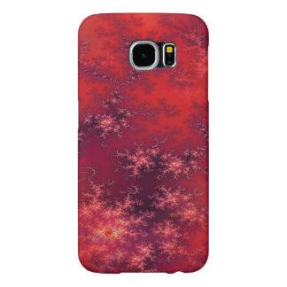 Seamless Fractal Red Samsung Galaxy S6 Case