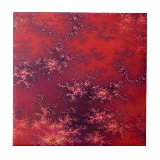 Seamless Fractal Red Tile