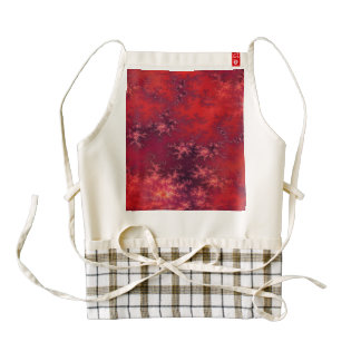 Seamless Fractal Red Zazzle HEART Apron