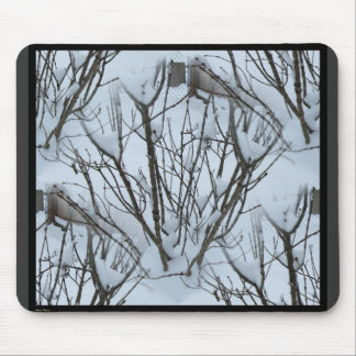 Seamless Frozen Winter Bush Abstract Mouse Pad