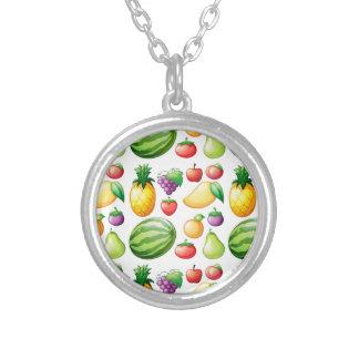 Seamless fruit round pendant necklace