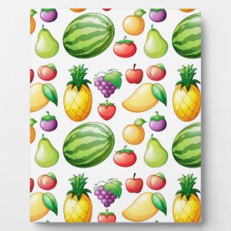 Seamless fruit photo plaque