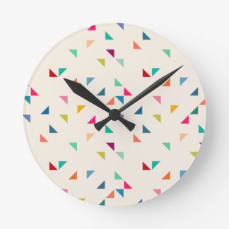 Seamless geometric pattern round clock