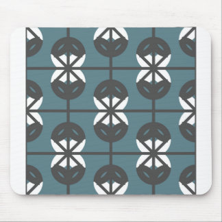 Seamless Geometric White Abstract Pattern Mouse Pad