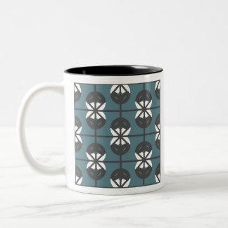 Seamless Geometric White Abstract Pattern Two-Tone Coffee Mug