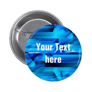 Seamless Graphic Design - blue black I Button