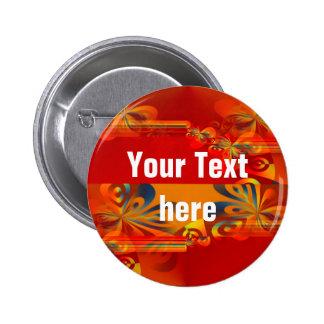 Seamless Graphic Design - red orange I 2 Inch Round Button