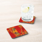 Seamless Graphic Design - red orange I Drink Coaster