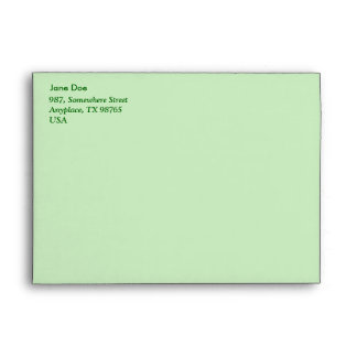 Seamless green leafy pattern envelope