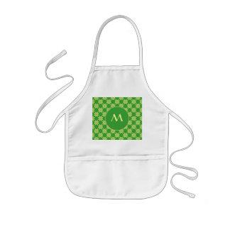 Seamless green leafy pattern kids' apron