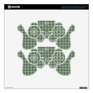 Seamless Green Tile Pattern on iPhone 6 Case PS3 Controller Decals