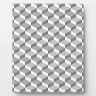Seamless Grey Geometric 3D Pattern Photo Plaque