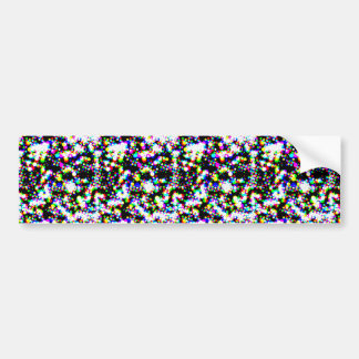 seamless halftone pattern bumper sticker
