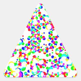 seamless halftone pattern triangle sticker