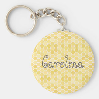 Seamless Honey Comb Pattern Keychain
